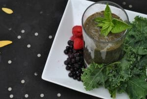 Blueberry Basil Kale Smoothie