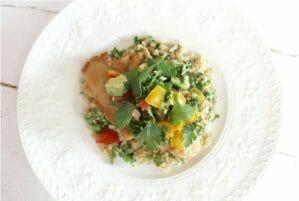 Chicken with Avocado, Tomato & Lemon Salsa