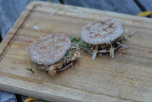 Coconut Quinoa Crusted Turkey Sliders With Apple Slaw
