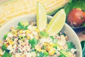 Esquites Quinoa Salad with Avocado