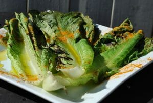 Grilled Romaine with Turmeric
