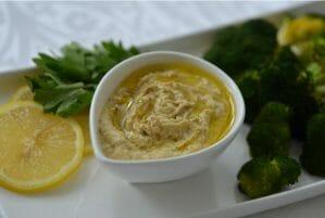 Roasted Broccoli & Hummus