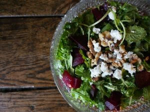 Arugala Salad with Roasted Beets