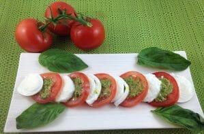 Tomato, Pesto and Buffalo Mozzarella Salad