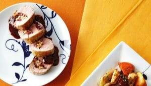 Orange-Glazed Pork Tenderloin with Cranberry and Walnut Stuffing